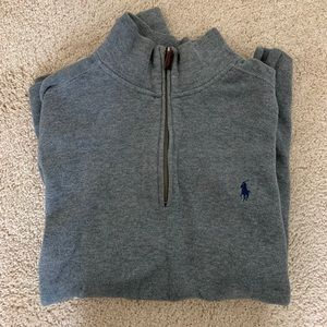 Polo by Ralph Lauren Half ZIP Grey Sweater